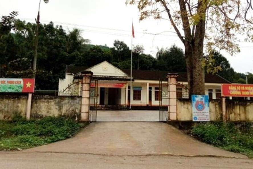 Trụ sở UBND xã Hương Lâm nơi xảy ra sự việc. Ảnh: Nhật Minh/VOV