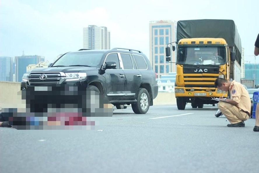 Vụ tai nạn xảy ra vào ngày 7.10 khiến một nạn nhân đi xe máy tử vong. Ảnh: QUỐC SANG