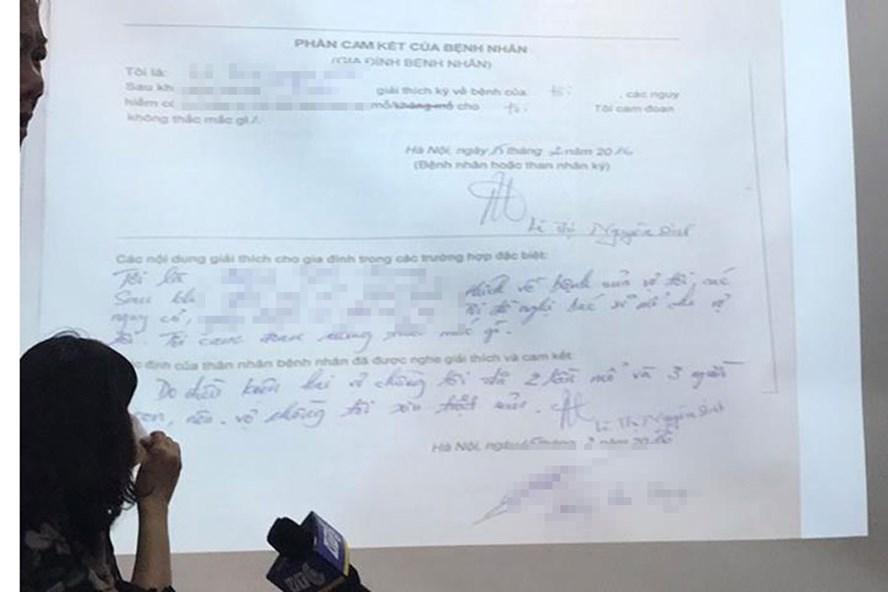 Hồ sơ bệnh án của sản phụ lưu tại BV Bạch Mai