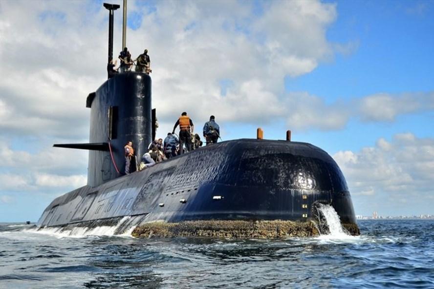 Tàu ngầm ARA San Juan mất tích. Ảnh: AP