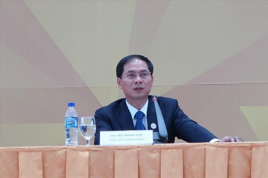 Thứ trưởng thường trực Bộ Ngoại giao Bùi Thanh Sơn. Ảnh: Vân Anh