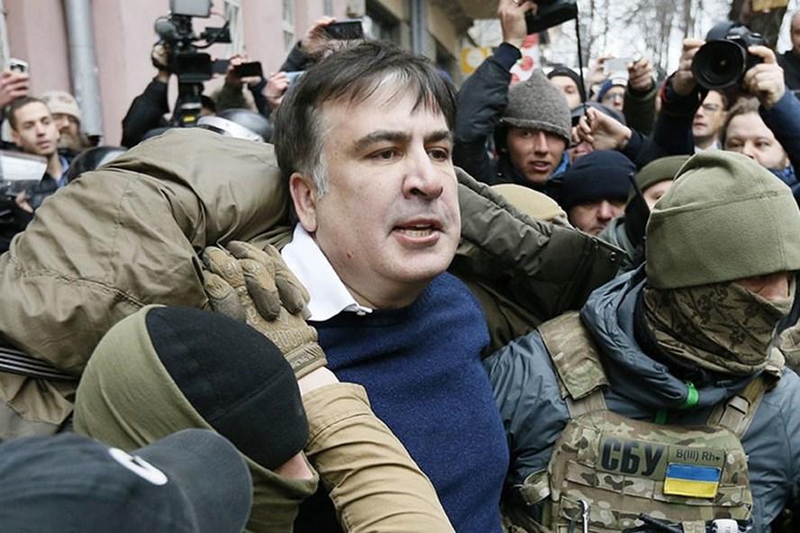 Cựu Tổng thống Gruzia Mikhail Saakashvili. Ảnh: Reuters
