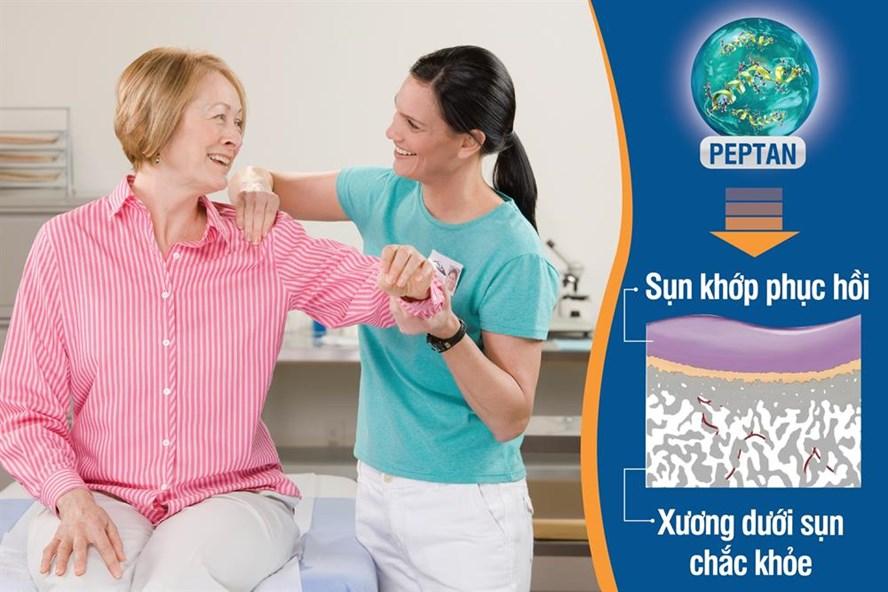 Với khả năng tác động kép vào sụn và xương dưới sụn, dưỡng chất sinh học PEPTAN (có trong JEX Max) giúp phục hồi và bảo vệ cấu trúc khớp, làm giảm đau nhức xương khớp hiệu quả.