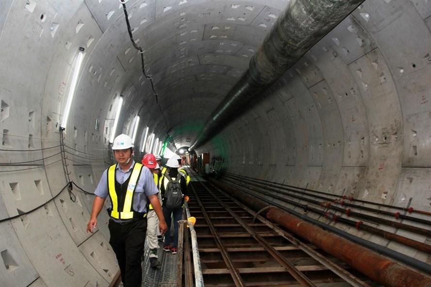 Robot TBM đã đào được hơn 400m đường hầm tuyến metro Bến Thành - Suối Tiên, với tốc độ trung bình 10 - 12m/ngày.  Ảnh: H.K