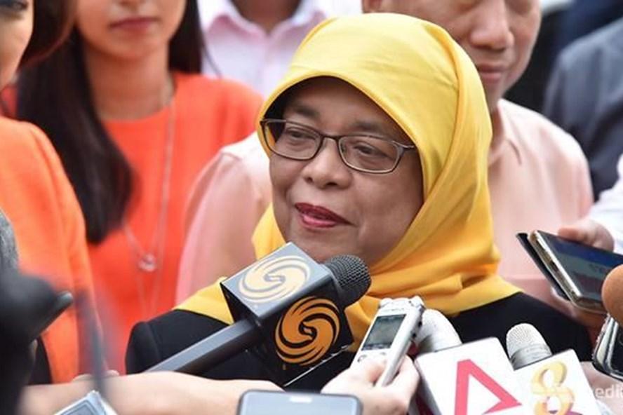 Tân Tổng thống Singapore Halimah Yacob. Ảnh: CNA