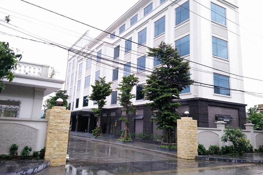DA Trung tâm thể dục, thể thao và dịch vụ Thành Nam, xây dựng khi chưa được cấp phép. Ảnh: Nguyễn Trường