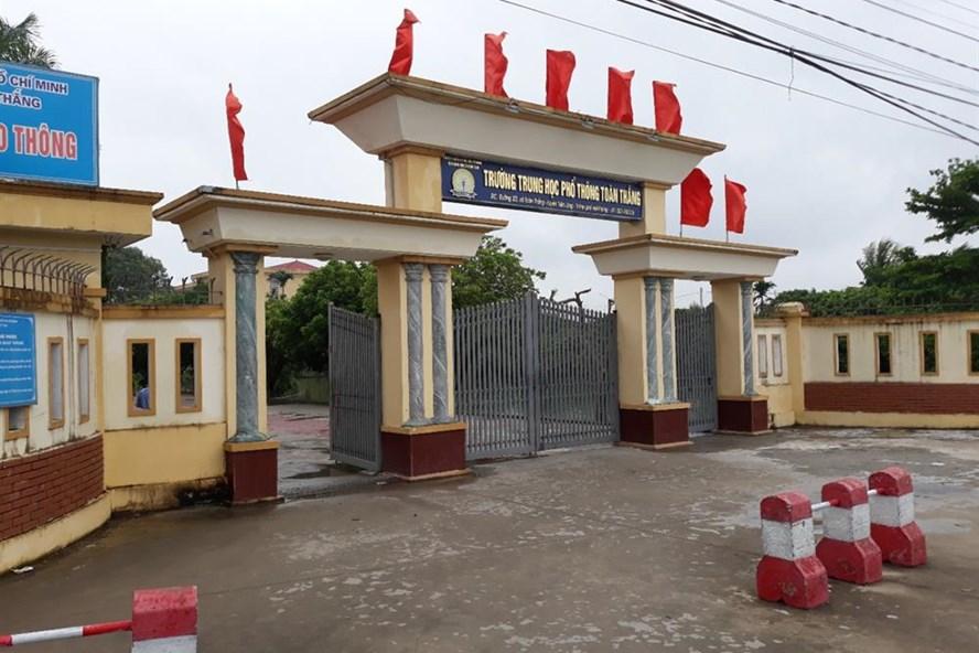 Trường THPT Toàn Thắng nơi xảy ra vụ việc - Ảnh TN