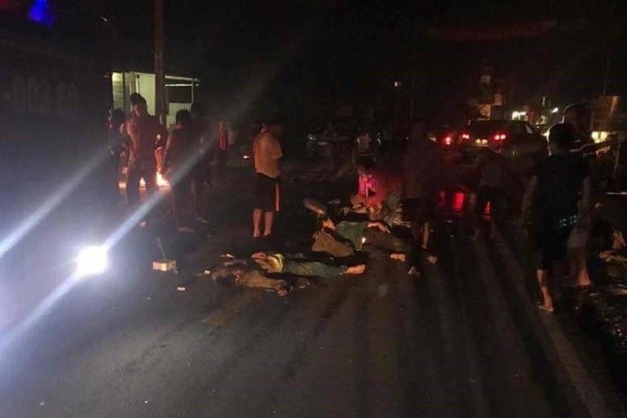 Hiện trượng vụ tai nạn khiến 1 người tử vong và 1 người bị thương.