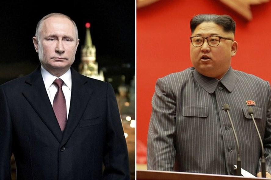 Ông Putin ca ngợi ông Kim Jong-un là chính trị gia có năng lực và trưởng thành. Ảnh: Sky News
