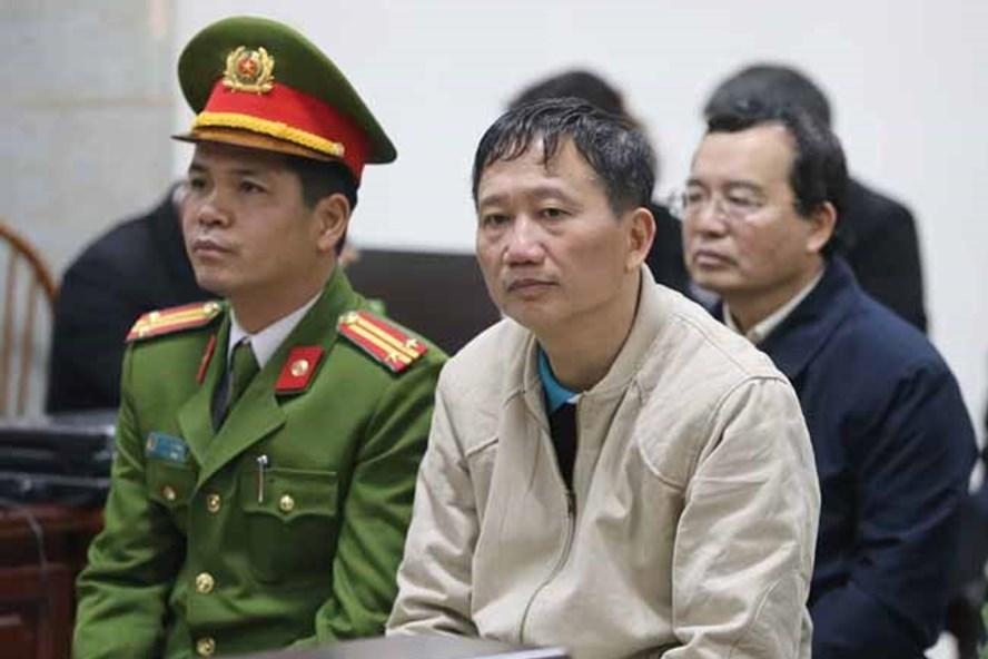 Bị cáo Trịnh Xuân Thanh tại tòa. Ảnh TTXVN