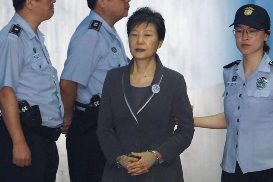 Cựu Tổng thống Hàn Quốc Park Geun-hye bị cáo buộc nhận hối lộ của Cơ quan Tình báo Quốc gia. Ảnh: Reuters