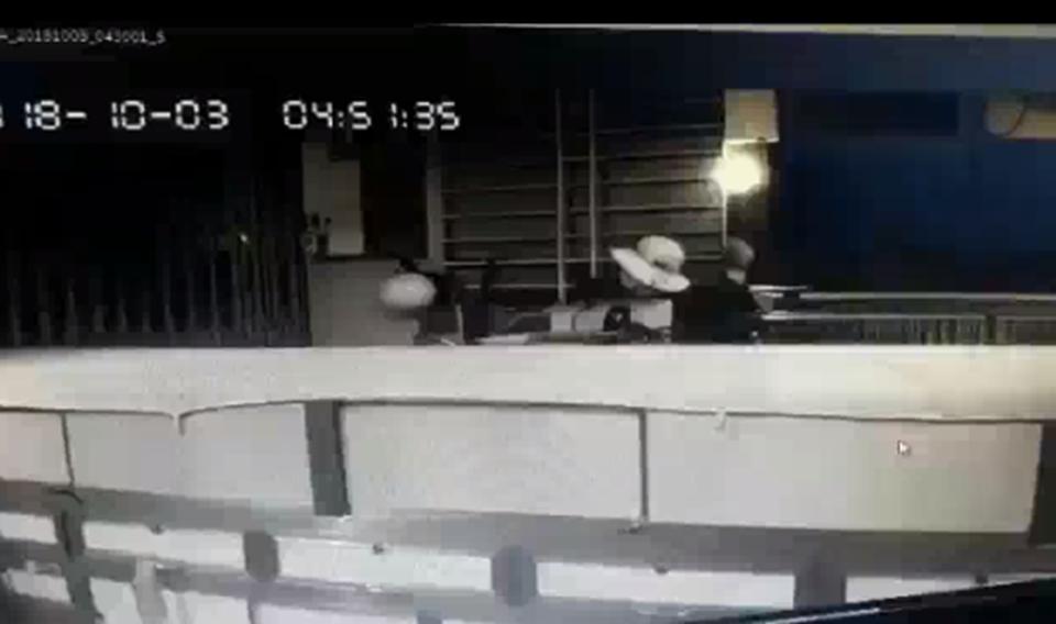 Ảnh cắt từ camera an ninh