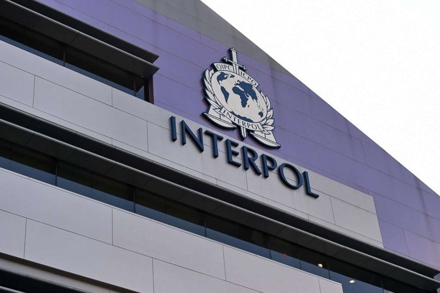 Logo của Interpol. Ảnh: AFP/Getty.