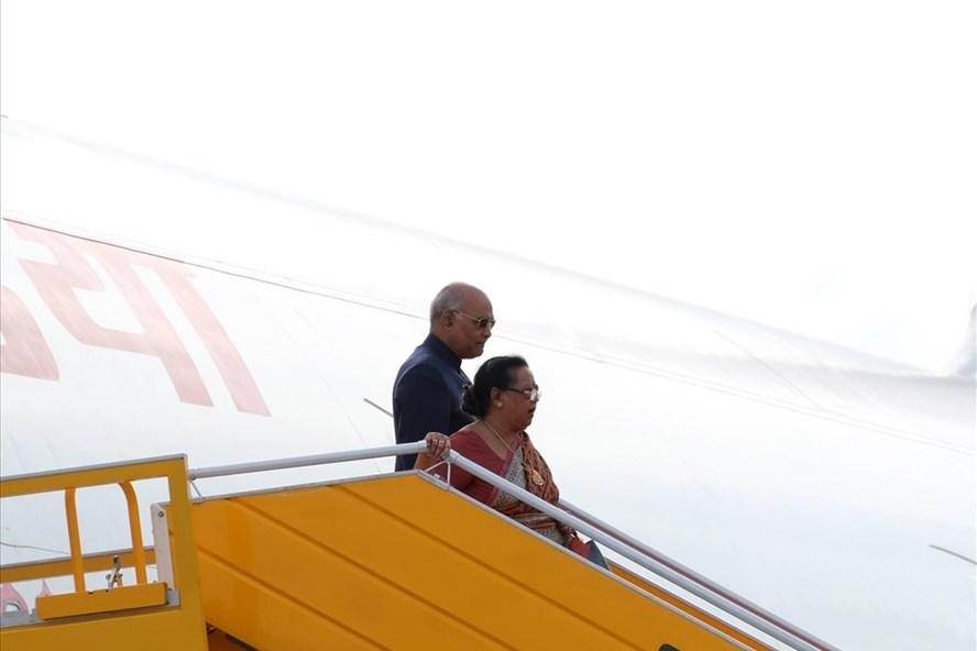 Tổng thống Ấn Độ Ram Nath Kovind và Phu nhân. Ảnh: Hoàng Vinh.