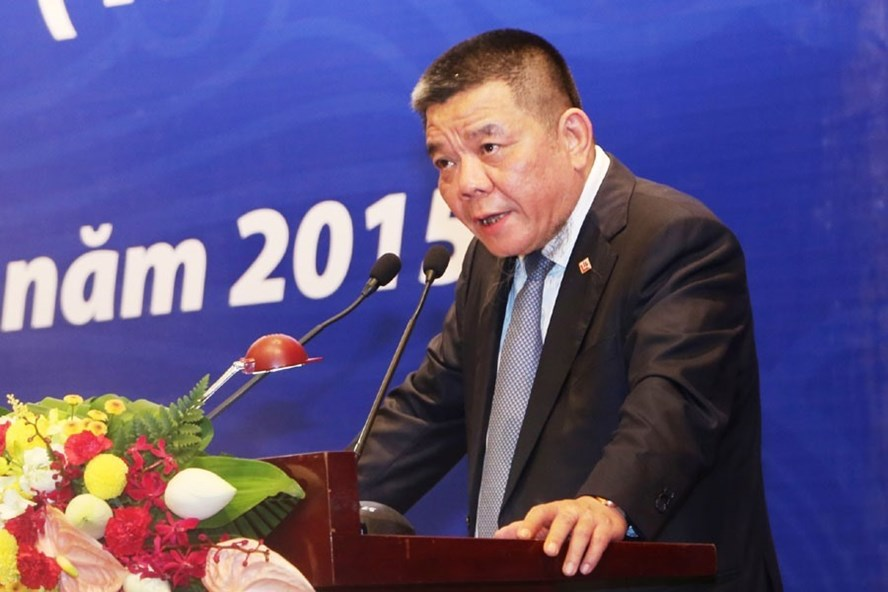 Ông Trần Bắc Hà phát biểu trong một hội nghị ngành ngân hàng.