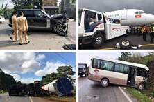 Tin tức giao thông 24h: Xe sang Range Rover gây tai nạn rồi bỏ chạy