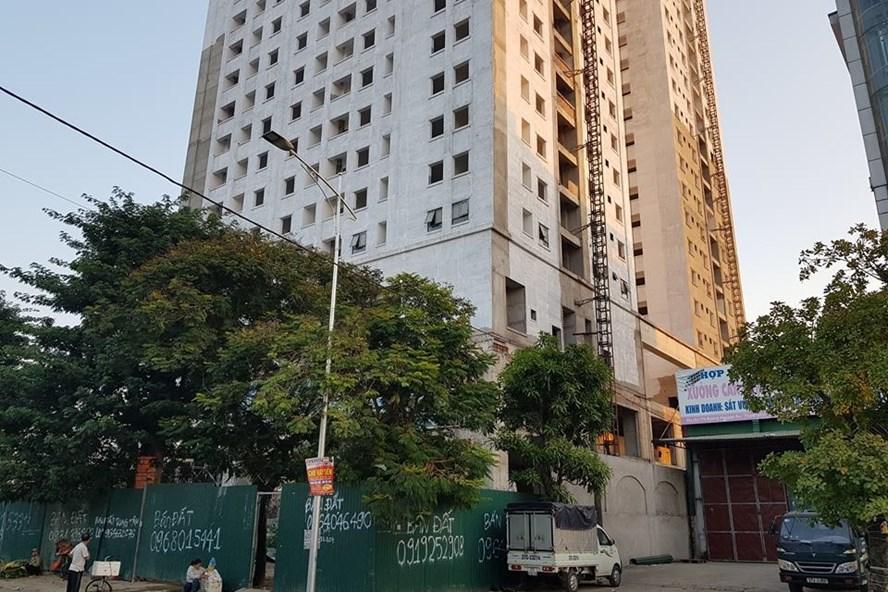 Dự án Tổ hợp nhà ở và Trung tâm thương mại tại phường Bến Thủy. Ảnh: PV
