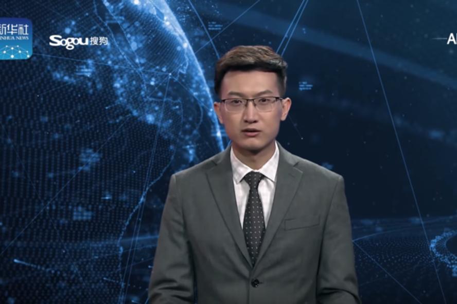 MC trí tuệ nhân tạo ra mắt ở Trung Quốc hôm 8.11. Ảnh: Xinhua.