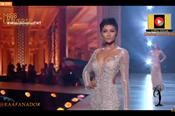 H'Hen Niê tự tin diện đầm xẻ cao tại sân khấu chung kết Miss Universe