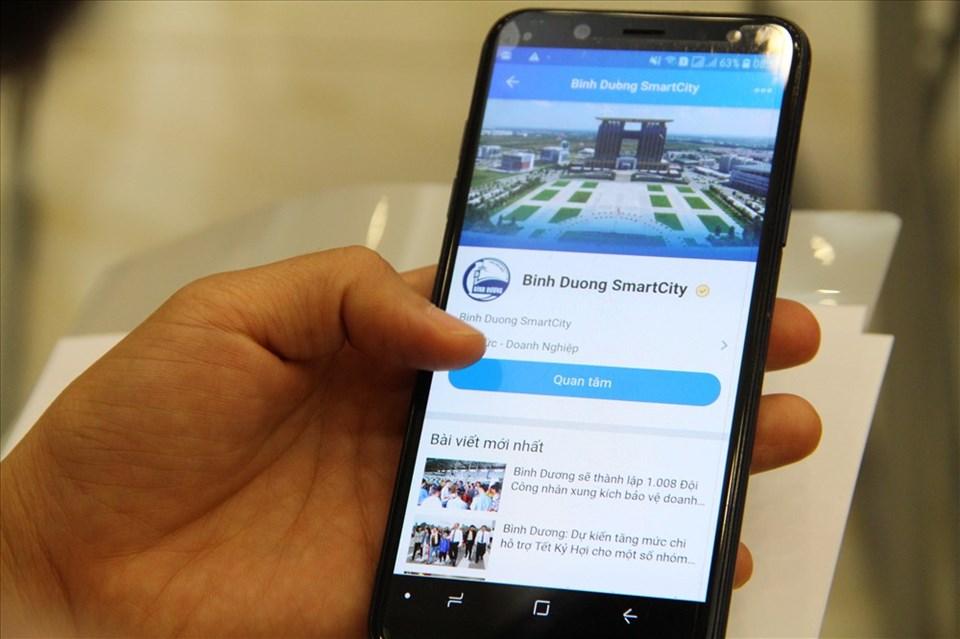 Qua ứng dụng zalo, người dân và doanh nghiệp có thể theo dõi trạng thái xử lý hồ sơ hành chính và biết thông tin về tỉnh Bình Dương.