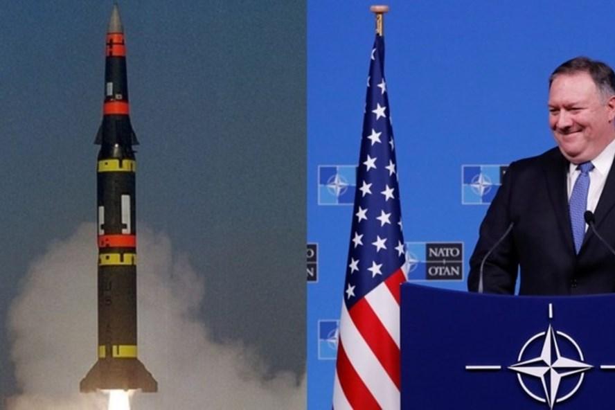 Ngoại trưởng Mike Pompeo tuyên bố Mỹ rút khỏi INF trong 60 ngày tuỳ thuộc vào quyết định của Nga. Ảnh: Reuters