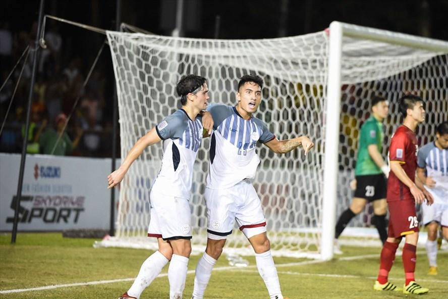 ĐT Philippines tới Việt Nam với sự tự tin và tham vọng muốn đánh bại đội chủ nhà với tỉ số đủ để vào chơi trận chung kết AFF Cup 2018. Ảnh: AFF