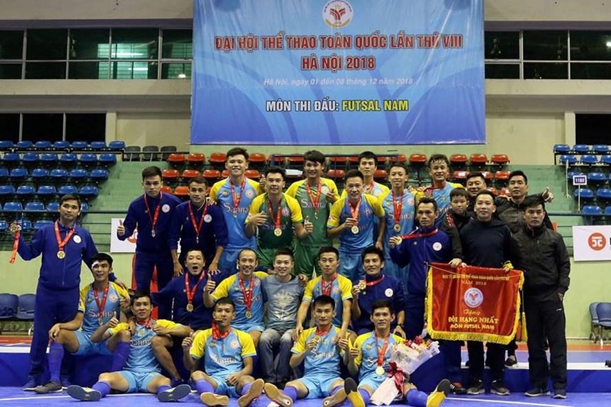Khánh Hòa vô địch Đại hội TDTT toàn quốc 2018 môn futsal đầy xứng đáng.