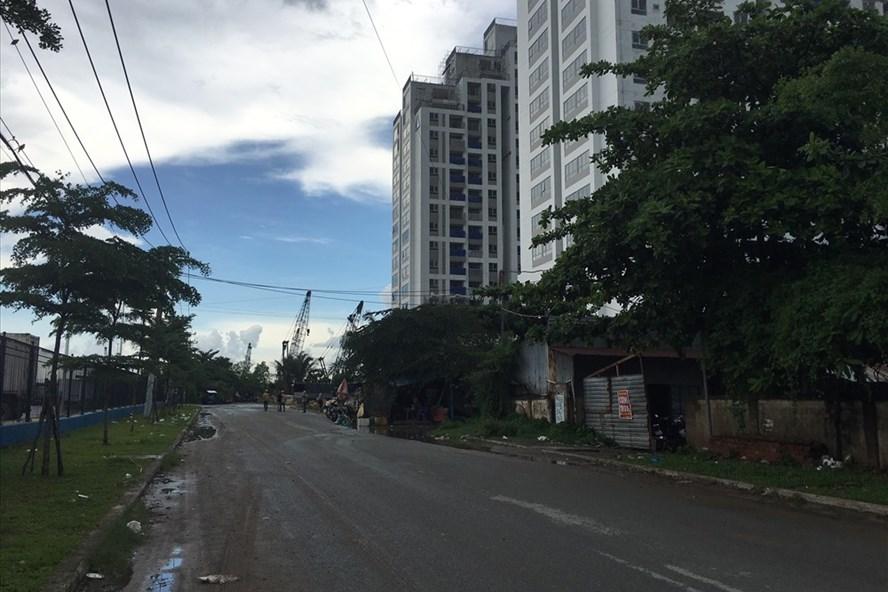 Hình ảnh hiện tại khu đất công 9.125m2 ở phường Phú Thuận, quận 7, mà HMC đã chuyển nhượng cho Công ty tư nhân Đất Xanh. Ảnh: C.H