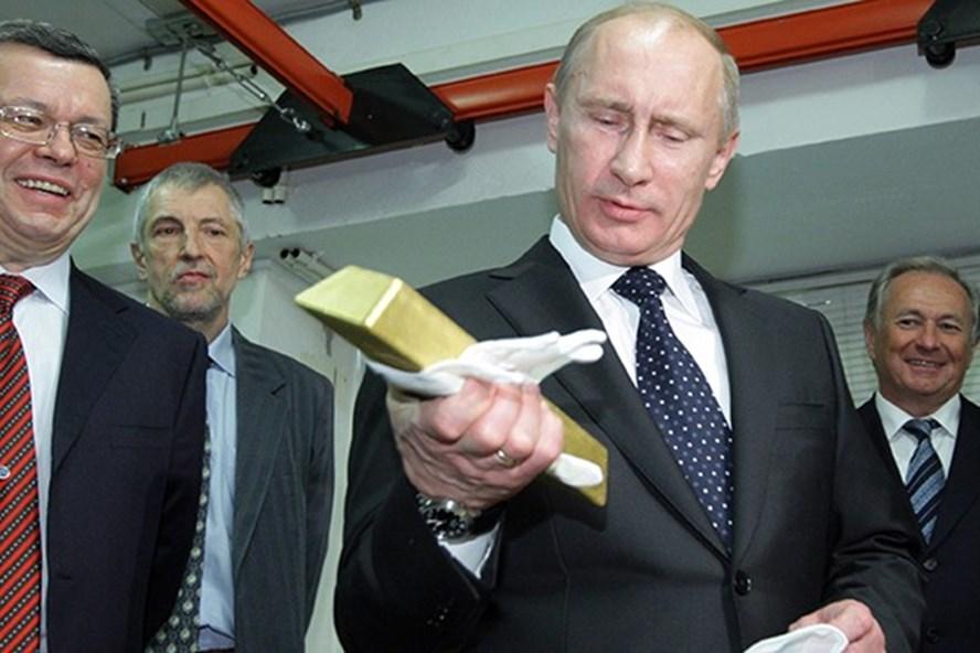 Nga có lượng dự trữ vàng lớn trên thế giới. Ảnh: RT