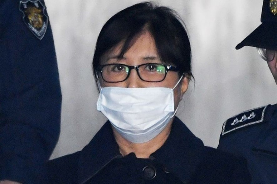 Bà Choi Soon-sil, bạn thân cựu Tổng thống Hàn Quốc Park Geun-hye. Ảnh: AFP/Yonhap.