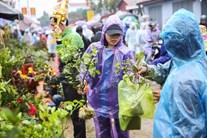 Hàng vạn người nườm nượp đổ về chợ Viềng mua may bán rủi