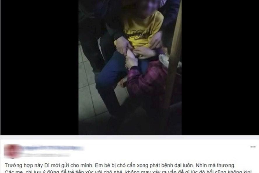 Hình ảnh bé trai chia sẻ trên mạng xã hội