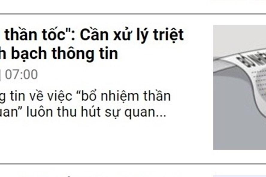 Bài viết đăng trên báo Lao Động đã gây sự chú ý đối với dư luận địa phương.