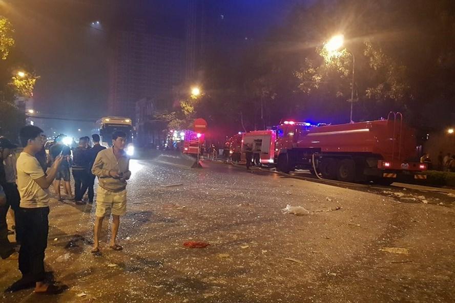 Hiện trường vụ nổ ngôi nhà 2 tầng kinh hoàng ở Nghệ An. ảnh:DH