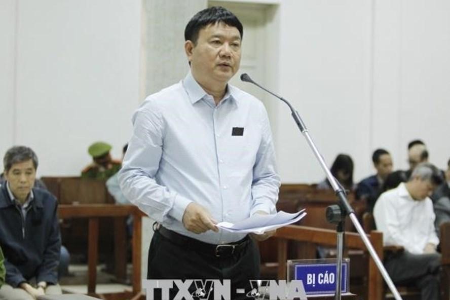 Ông Đinh La Thăng tại tòa. Ảnh TTXVN