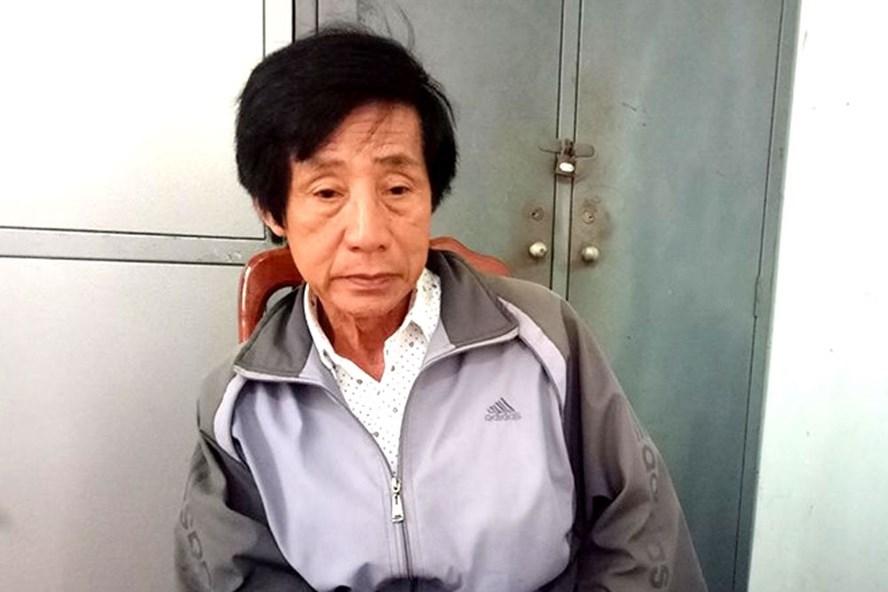 Ông Huỳnh Bê tại cơ quan công an.