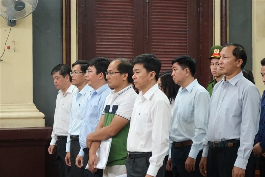 Các bị cáo nguyên là lãnh đạo Navibank tại tòa (ảnh: P.B).