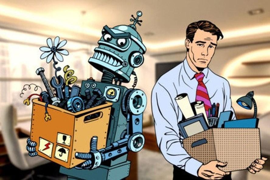 Cách mạng 4.0 đến, robot có thay thế con người? Ảnh minh hoạ: Theo CafeF