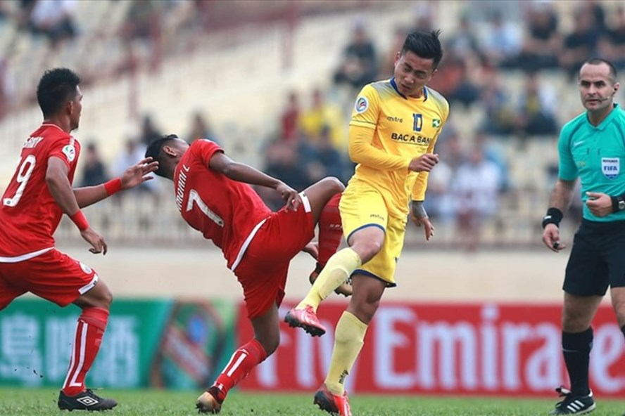 SLNA chiếm ngôi đầu bảng H với 3 trận bất bại ở vòng bảng. Ảnh: AFC