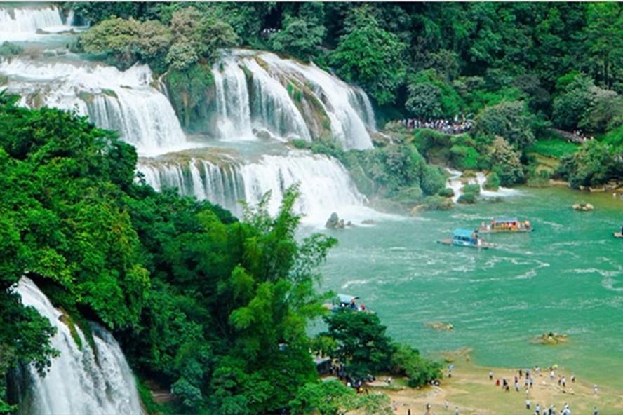 Một phần vẻ đẹp của Công viên địa chất Non nước Cao Bằng.