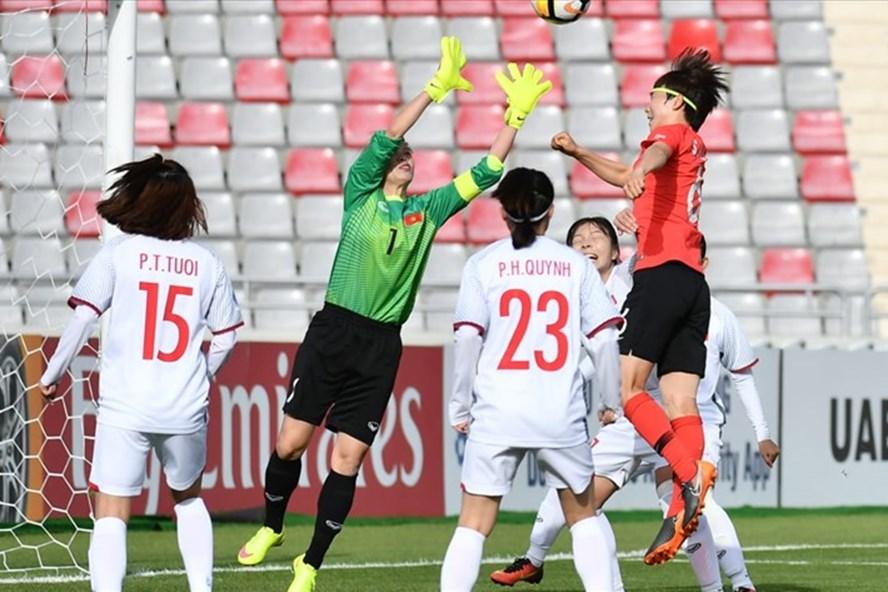 Tuyển nữ Việt Nam đã thất bại ở trận đấu cuối cùng. Ảnh: AFC