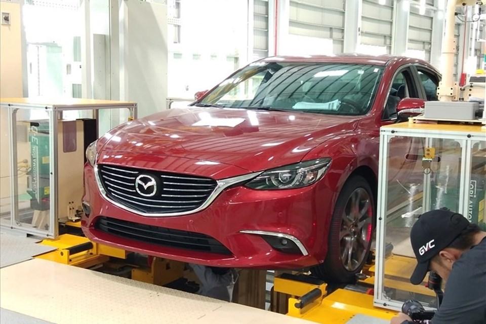 Xe Mazda CX-5 mới ra lò tại nhà máy Thaco Mazda.
