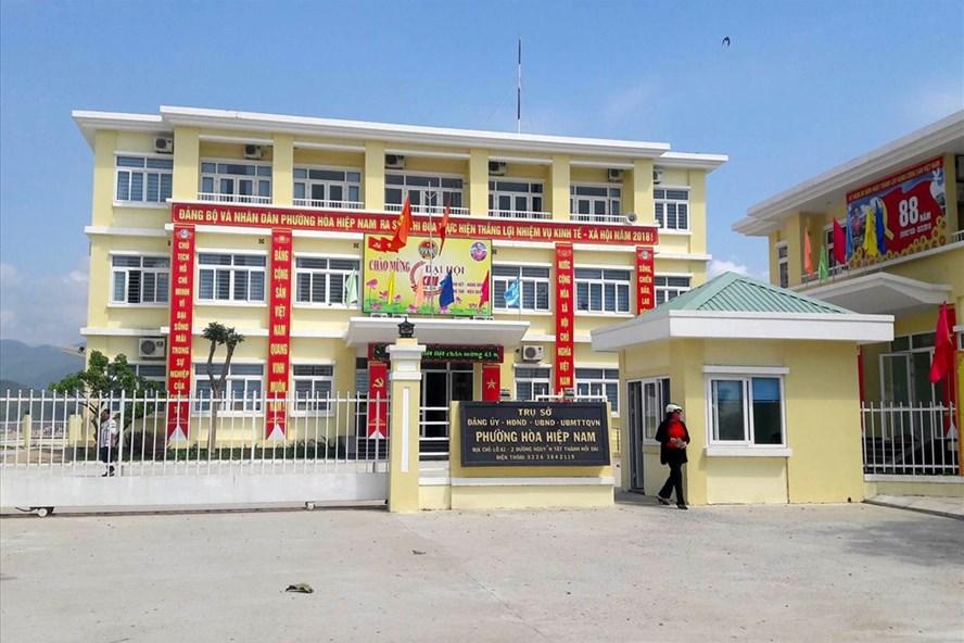 Trụ sở UBND phường Hòa Hiệp Nam. Ảnh: N.T
