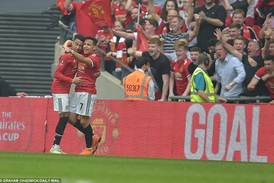 Sanchez (số 7) là cầu thủ chơi hay nhất trận này bên phía Man United. Ảnh: Daily Mail.