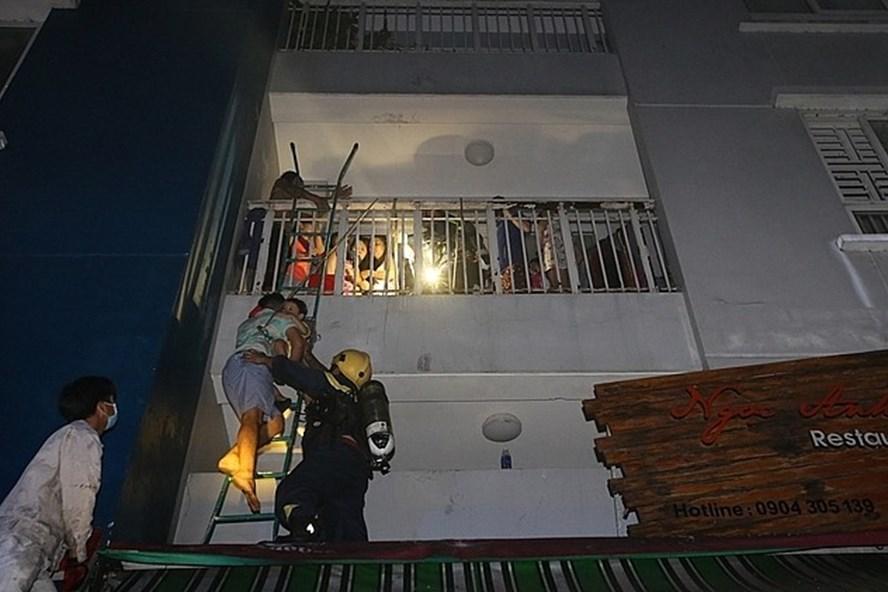 Vụ cháy chung cư Carina hôm 23.3.