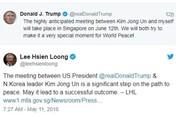 Thủ tướng Lý Hiển Long bình luận về việc Singapore đăng cai thượng đỉnh Mỹ - Triều