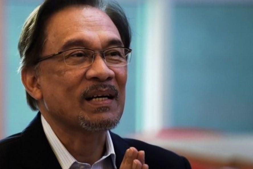 Thủ lĩnh phe đối lập Anwar Ibrahim. Ảnh: AFP.