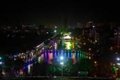 Phố đi bộ Trịnh Công Sơn rực sáng trong đêm mưa