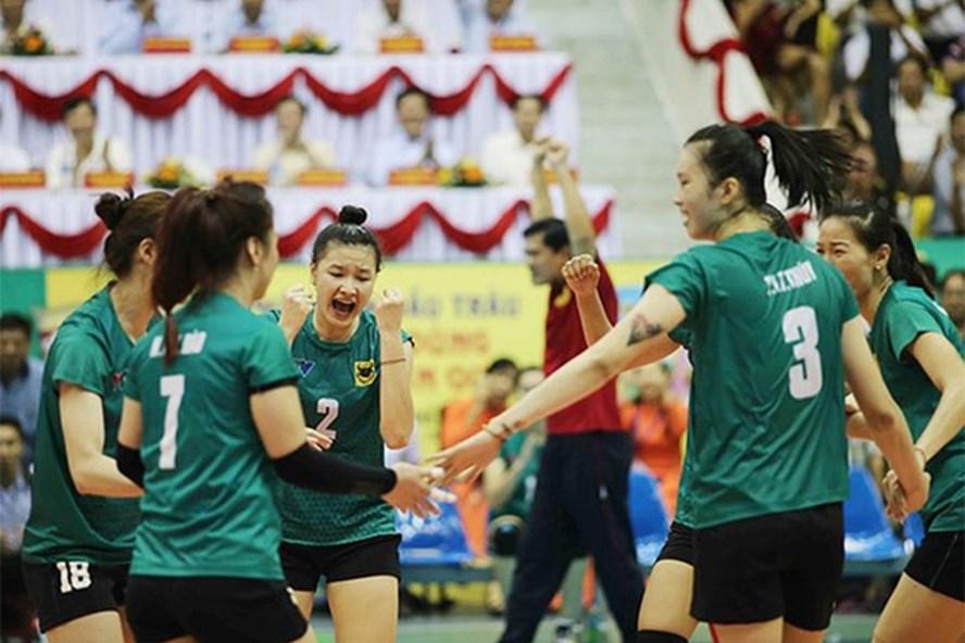 Bình Điền Long An khởi đầu thuận lợi ở giải bóng chuyền nữ quốc tế. Ảnh: VTV