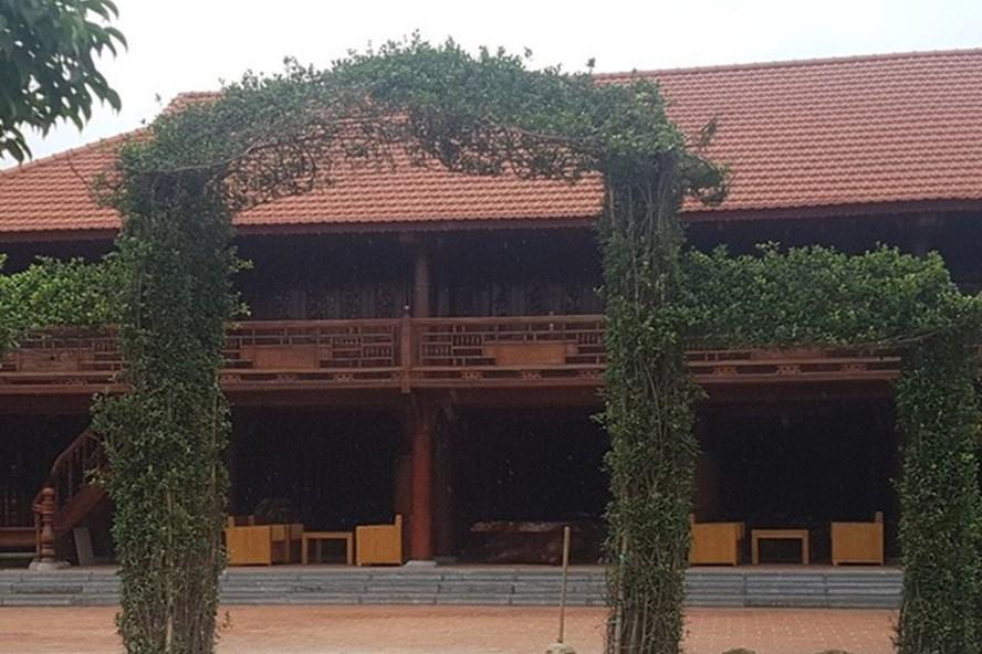 """Công trình xây dựng """"khủng"""" trên khu đất trang trại lúa - cá tại TP. Thanh Hóa (tỉnh Thanh Hóa). Ảnh: P.V"""